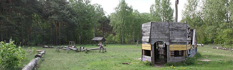 Abenteuerspielplatz an der Badestelle auf dem Schmöckwitzer Werder