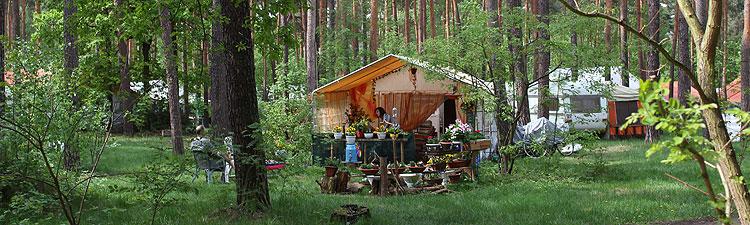 Campingplatz auf dem Schmöckwitzer Werder zum Zeuthener See