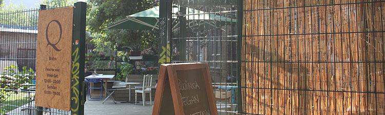 Bistro am Pankeweg auf der Rückseite der Künstlerateliers  an der Gerichtstraße