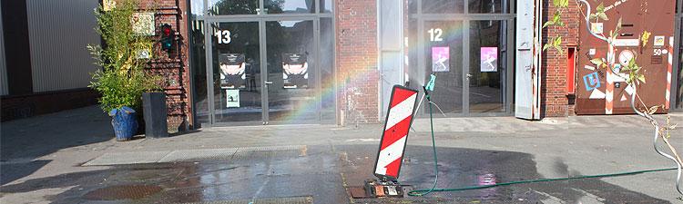 regenbogenapparat im BVG-Straßenbahndepot